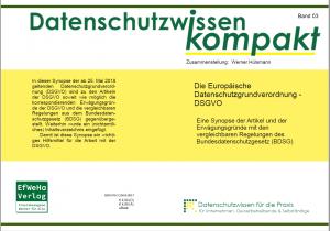 Bd_03-Umschlag DSGVO-Synopse-Art, EWG, BDSG-eBook